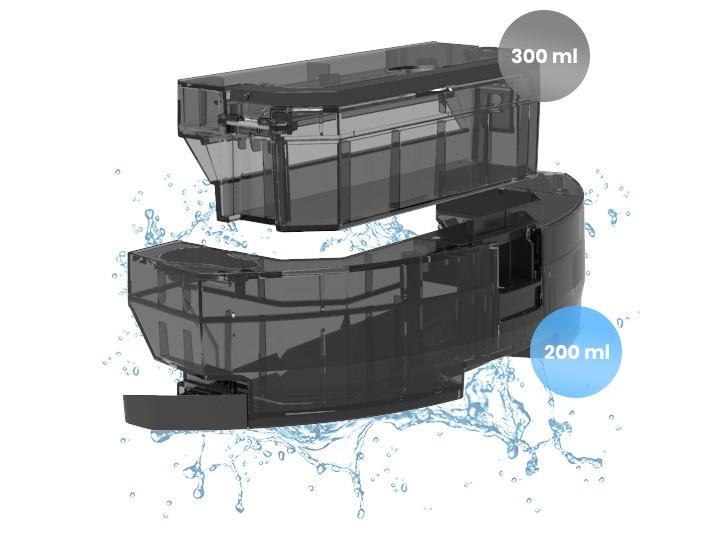 Kombinierter Behälter - saugen und wischen Sie gleichzeitig